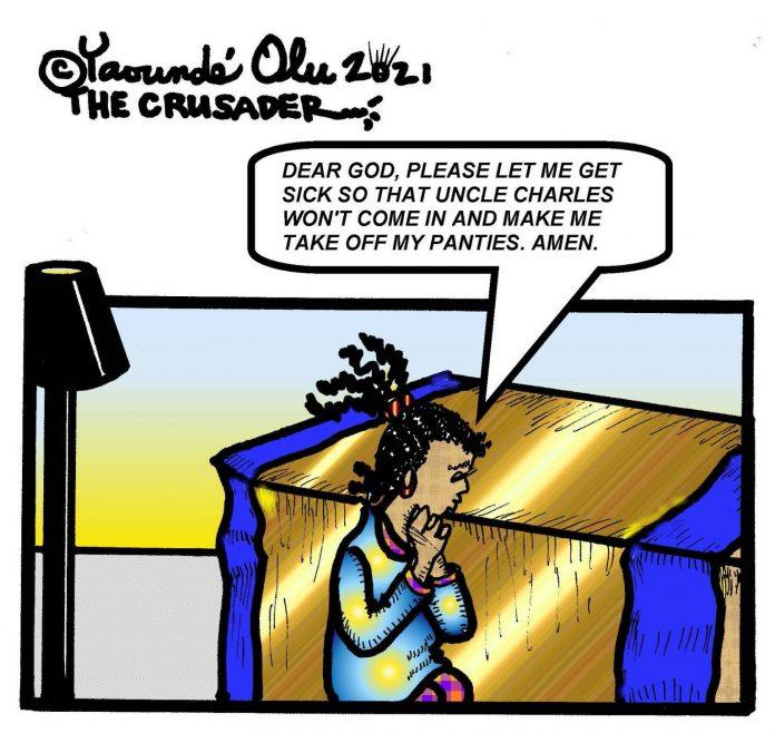 Praying Cartoon